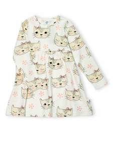 JNY organikus pamut kislány ruha - cica