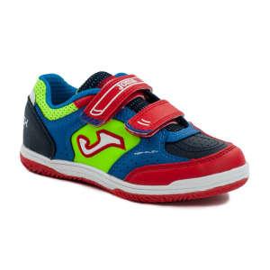 Joma Top Flex JR 917 fiú Teremcipő #neon-piros-kék 31247664 Joma Gyerekcipő sportoláshoz