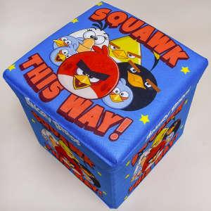 Disney Játéktároló puff - Angry Birds #kék 31198084 Játéktároló