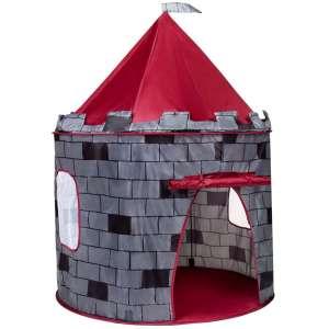 Játszósátor - Vár #szürke-piros 31198116 Játszósátor, játszóház, alagút