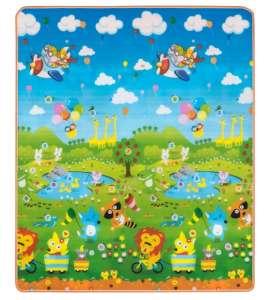 Nagyméretű Játszószőnyeg 150x180cm - Állatok #zöld-kék - C 31198135 Babaszoba