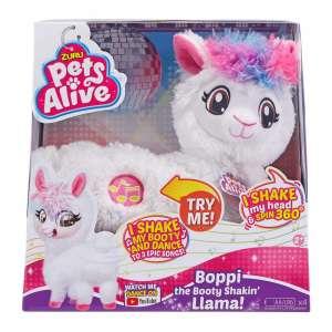 Pets Alive interaktív Plüss -Láma #fehér-rózsaszín 31200395 Interaktív plüss