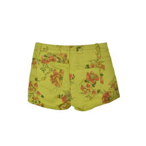 Rimini sárgászöld, virágmintás női farmershort – 26 31205476 Női rövidnadrág