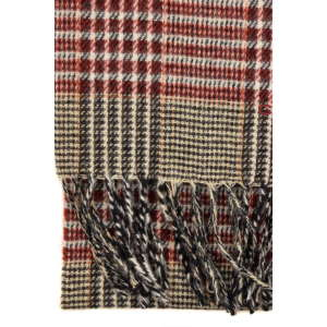 Gant szürke-bordó apró kockás gyapjú sál 31205528 Férfi sál / sapka / kesztyű