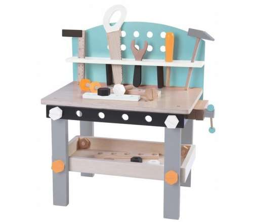 Ecotoys fa Barkácsasztal kiegészítőkkel 32db 31212605