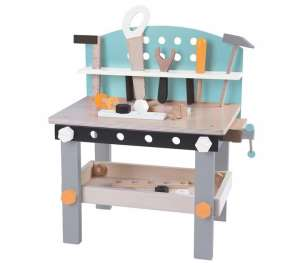 Ecotoys fa Barkácsasztal kiegészítőkkel 31212605 Szerepjátékok