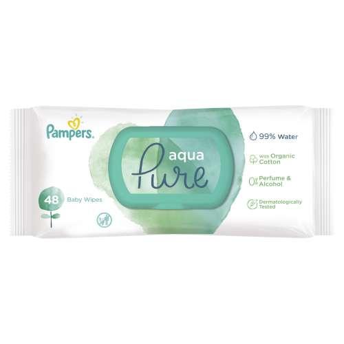 Pampers Aqua Pure nedves Törlőkendő 48db