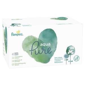 Pampers Aqua Pure nedves Törlőkendő 9x48db 31213835 Törlőkendő