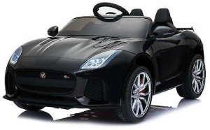 Baby Mix Jaguar Elektromos autó távirányítóval 12V #fekete 31216206 Járgányok