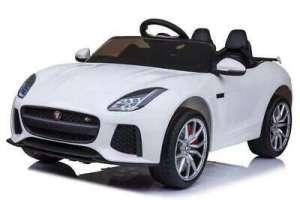 Baby Mix Jaguar Elektromos autó távirányítóval 12V #fehér 31216207 Járgányok