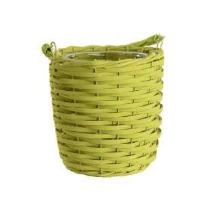 Zöld fonott kosár lámpás 31274010