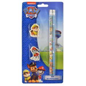 Mancs Őrjárat ceruza és radír szett – 4 db, kék 31363563
