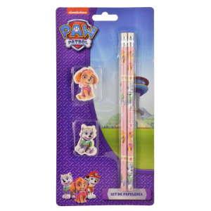 Mancs Őrjárat ceruza és radír szett – 4 db, lila 31220639