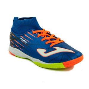 Joma Champion JR Sock 804 száras fiú Teremcipő #kék-ezüst-narancssárga 31247634 Joma Gyerekcipő sportoláshoz