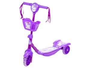 Háromkerekű roller kosárkával - rózsaszín színű 31233053 Roller és gördeszka