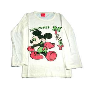 """Uniszex Fehér Hosszú ujjú Mickey M. Felső 9-10év 31235537 A Pepitán ezt is megtalálod: """"Mickey"""" 17 kategóriában"""
