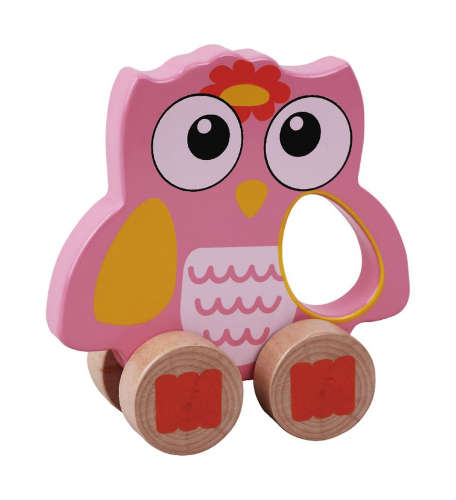 Fa fejlesztő Játék - Bagoly #rózsaszín
