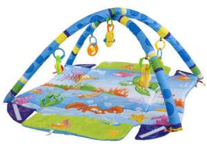 Sun Baby peremes Játszószőnyeg - Halacska #kék