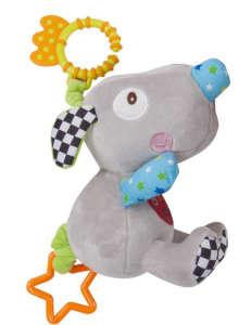 Sun Baby rágókás Plüss - Egér #kék 31239129 Fejlesztő játék babáknak