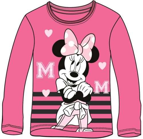 Gyerek hosszú ujjú póló, 116cm - Minnie #rózsaszín