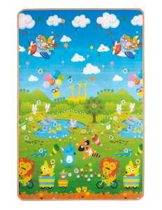 Nagyméretű Játszószőnyeg 120x180cm - Állatok #kék-zöld - C