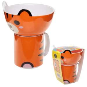Müzlis tálka és bögre reggeliző Készlet - Tigris 31250457 Etetési kiegészítő
