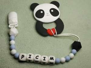 Szilikon cumilánc és rágóka egyben - Panda 31255709 Cumilánc