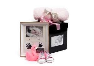 Babalátogató ajándékcsomag egyedi dobozban 31263569 Babakelengye, újszülött csomag