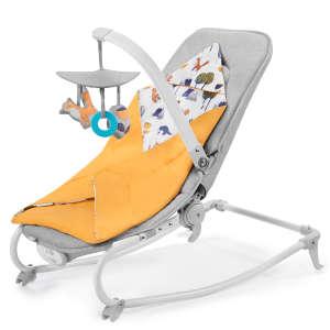 Kinderkraft Felio 3in1 rezgő-zenélő Pihenőszék #sárga