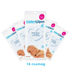 WaterWipes nedves Törlőkendő On The Go Extra Csomag 14x28db