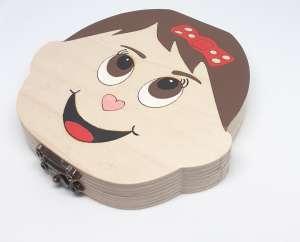 Tejfogtartó doboz lányoknak (festett) 31274982 Fogkefe, fogdörzsölő, fogápolási szett