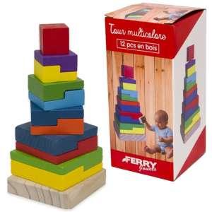 En Bois fa építőtorony készségfejlesztő játék 31275538 Fejlesztő játék bölcsiseknek