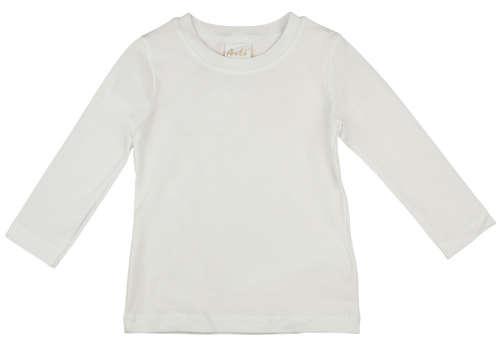 Hosszú ujjú fehér lányka póló