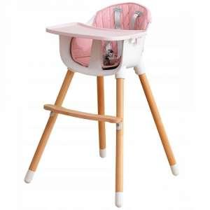 Ecotoys fix 2in1 fa Etetőszék #rózsaszín 31281108 Ecotoys Etetőszék