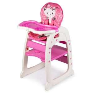 Ecotoys 2in1 átalakítható Etetőszék - Cica #rózsaszín 31281212 Ecotoys Etetőszék
