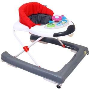 Baby Mix Bébikomp játékpanellel #piros-szürke 31283011 Bébikomp