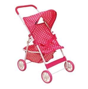 Baby Mix Játék babakocsi - Pöttyös #rózsaszín 31283322 Játék babakocsi