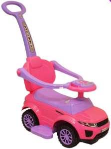 Baby Mix Bébitaxi hangeffekttel + lábtartó #rózsaszín-lila