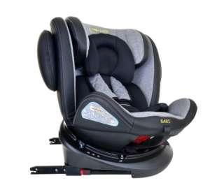 Summer Baby Bari SPS ISOFIX 360°-ban forgatható biztonsági Gyerekülés 0-36kg #fekete-szürke 31283399 360 fokban forgatható gyerekülés, autósülés