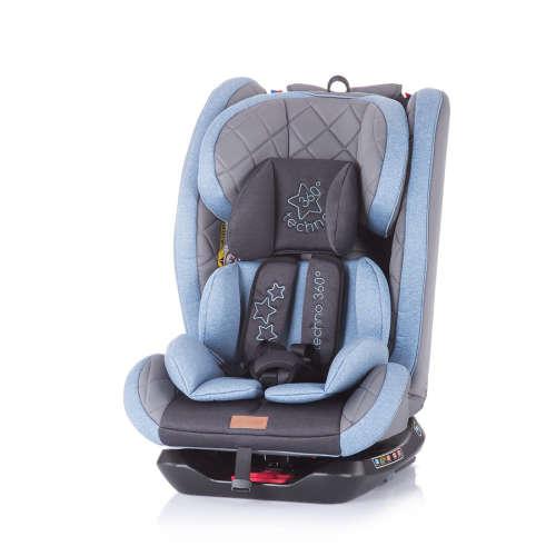 Chipolino Techno 360° ISOFIX biztonsági Gyerekülés 0-36kg - Blue #kék 2020