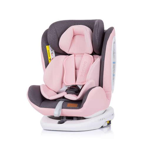 Chipolino Tourneo ISOFIX biztonsági Gyerekülés 0-36kg - Baby Pink 2020 #rózsaszín