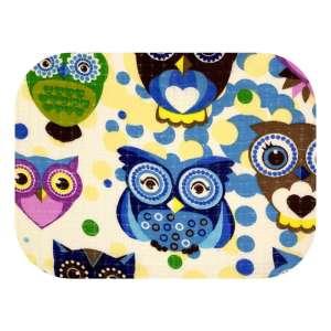 Ega minőségi Textil pelenka - Baglyok #lila-sárga (U019)