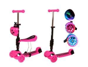 Edi 2in1 háromkerekű világító Roller - Katica #rózsaszín