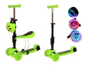 Edi 2in1 háromkerekű világító Roller - Katica #zöld 31433829 Roller és gördeszka