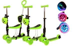 Edi 3in1 háromkerekű világító Roller szülőkarral - Katica #zöld