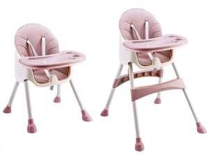 Ecotoys 2in1 átalakítható Etetőszék #rózsaszín 31345051 Ecotoys Etetőszék