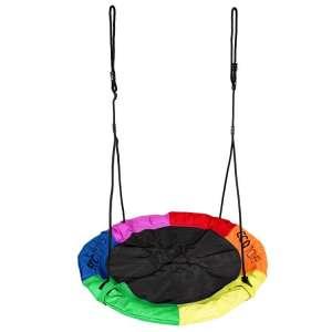 Ecotoys Fun Fészekhinta 110cm - Szivárvány  31345129 Szabadtéri játékok és felszerelések