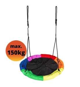 Ecotoys Fun Fészekhinta 110cm - Szivárvány