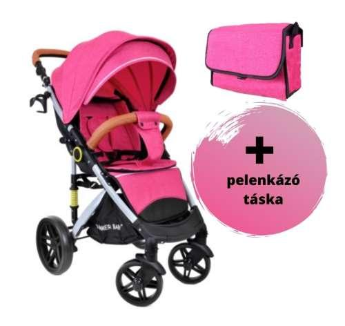Summer Baby Sempre sport Babakocsi + pelenkázó táska #rózsaszín