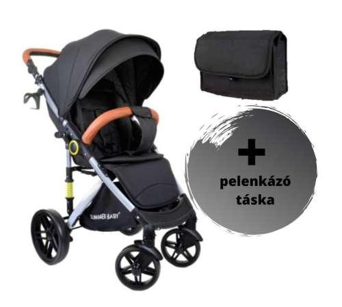 Summer Baby Sempre sport Babakocsi + pelenkázó táska #fekete